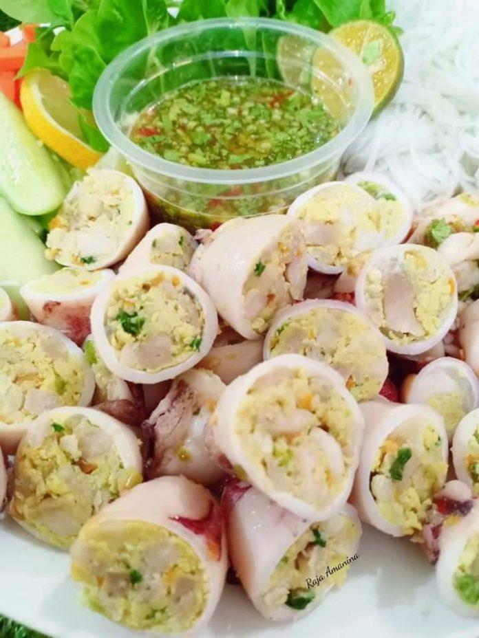 resepi sotong sumbat dan sambal hijau
