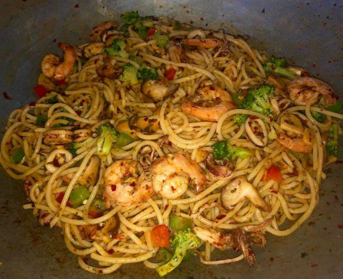 resepi spagetti aglio oglio 8