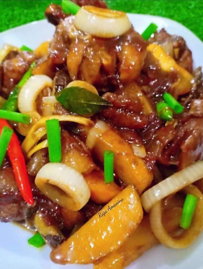resepi ayam masak kicap berempah pekat 1
