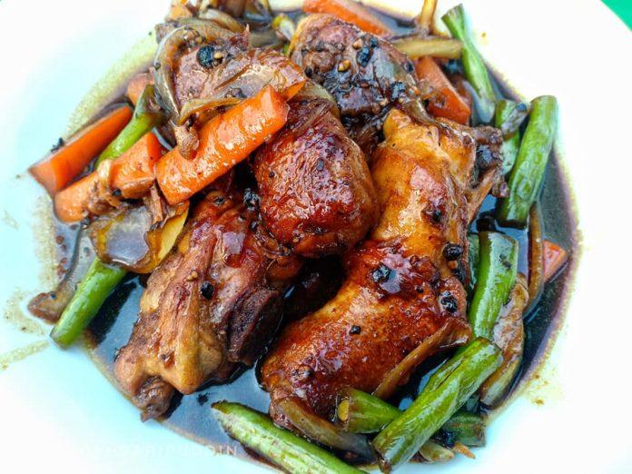 resepi ayam masak lada hitam 15