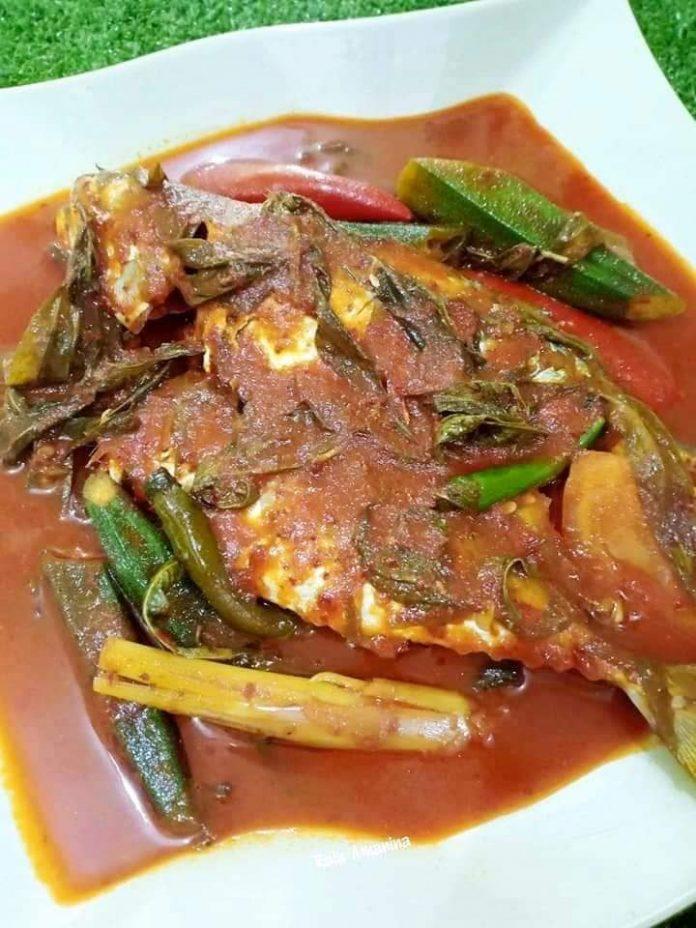 resepi ikan kembung masak asam pedas 1