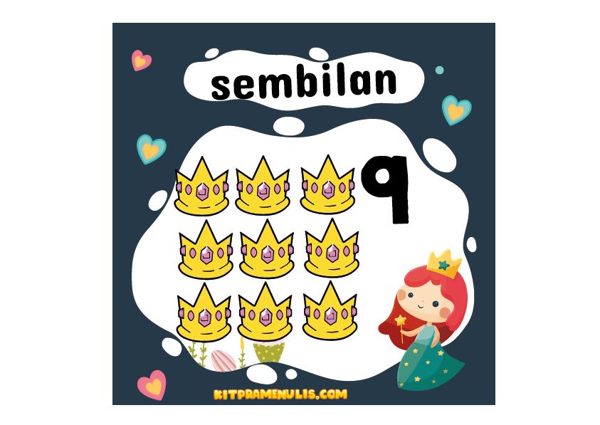 flash-kad-nombor-1-hingga-10-ppki-prasekolah-01 eFlash Kad Kira Nombor 1 Hingga 10 Tema Princess