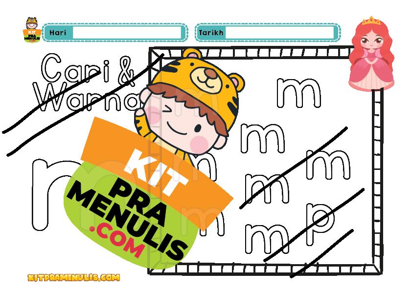 latihan-abc-prasekolah-6-tahun-pdf-01 PENDRIVE PREMIUM | Latihan Warna ABC Tema Princess Prasekolah PDF