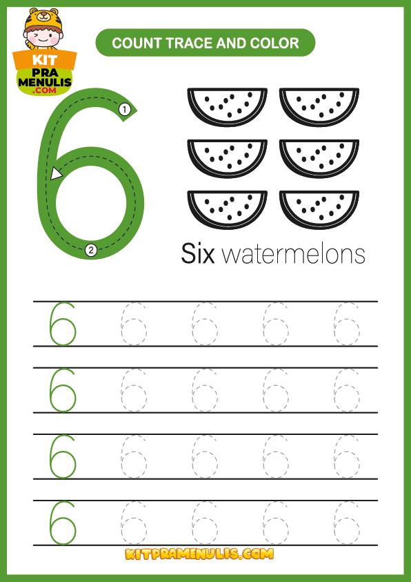 latihan-matematik-6-tahun-tadika-prasekolah-01-1 Latihan Matematik Menulis Nombor 1 Hingga 10 Tadika PDF