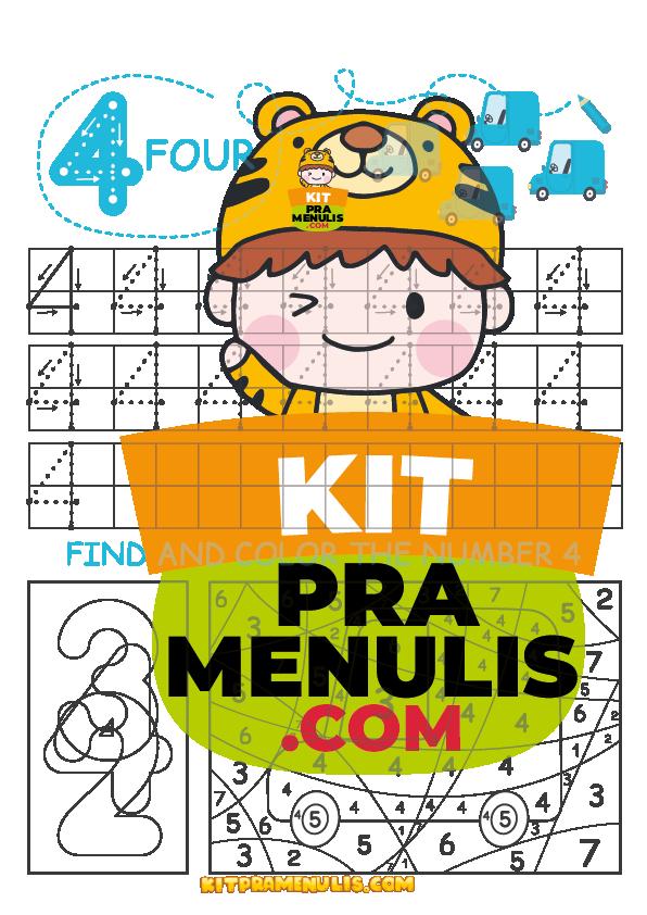 mathematic-number-worksheet-for-preschool-10 PENDRIVE PREMIUM | Latihan Matematik Prasekolah 5 Tahun