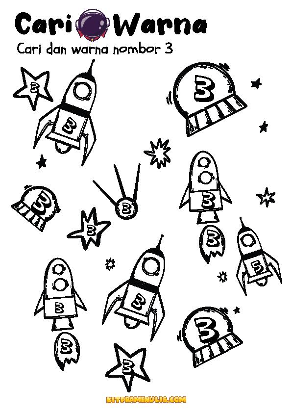 lembaran-kerja-ppki-nombor-matematik-123-01 Lembaran Kerja Matematik PPKI Nombor 123 Tema Spaceship