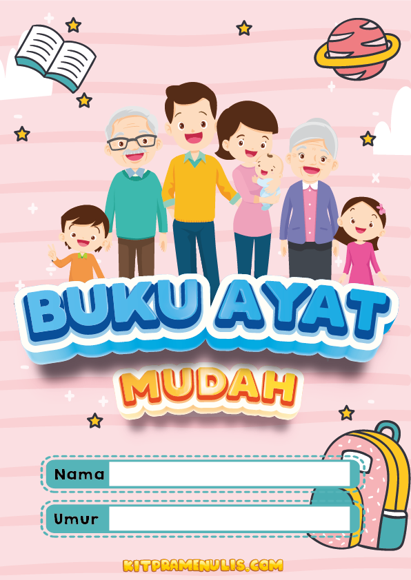 latihan-menulis-prasekolah-pdf-01 Latihan Menulis Prasekolah PDF Ayat Mudah Tema Keluarga Saya